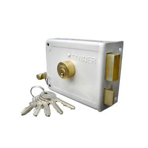 قفل درب حیاطی طرح ژوییل کلید ساده تنسر مدل TDL-Y-313