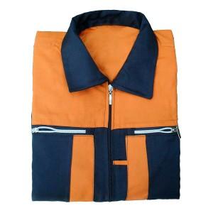 لباس کار ایمنی با رنگ مشکی/نارنجی