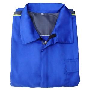 لباس کار آبی و توسی رنگ