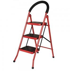 نردبان تاشو 3 پله قرمز رنگ سهند