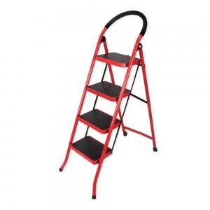 نردبان تاشو 4 پله قرمز رنگ سهند