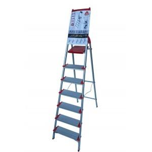 نردبان خانگی آلومینیومی 7 پله پهن آریس