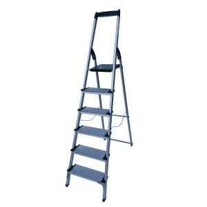 نردبان خانگی آلومینیومی 6 پله پهن آریس