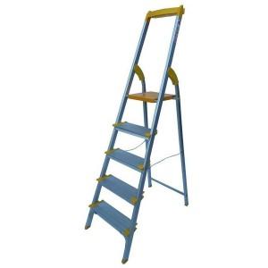 نردبان خانگی آلومینیومی 5 پله پهن آریس