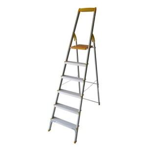 نردبان خانگی آلومینیومی 6 پله معمولی آریس