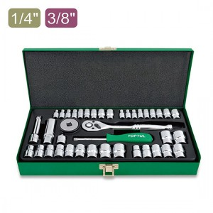 جعبه بکس 40 پارچه - 1.4 و 3.8 تاپتول TOPTUL