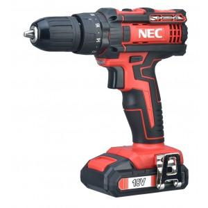 دریل شارژی 18 ولت چکشی ان ای سی مدل NEC 1618