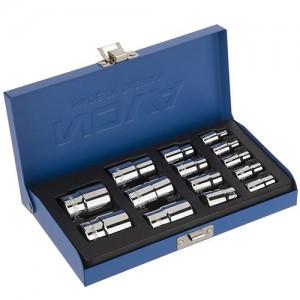 جعبه بکس 1/2 و 3/8 و 1/4 اینچی 14 پارچه نووا کد E7025
