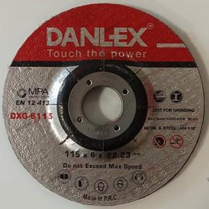 دنلکس صفحه سنگ مینی ساب فیبری دو کاره (آهن و استیل) 22.2*6*115 کد DXG-6115