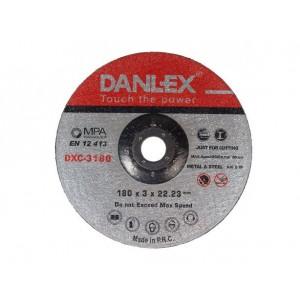 دنلکس صفحه سنگ ساب فیبری دو کاره (آهن و استیل) 22.2*6*180 کد DXG-6180